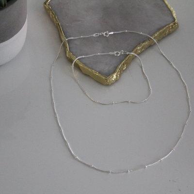 Silver Jasmine Snake Necklace