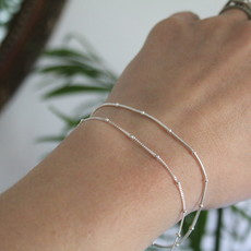 Silver Jasmine Snake Bracelet