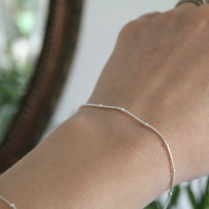 BOHO Silver Jasmine Snake Bracelet