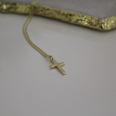 Joulberry Gold Phoebe Cross Necklace