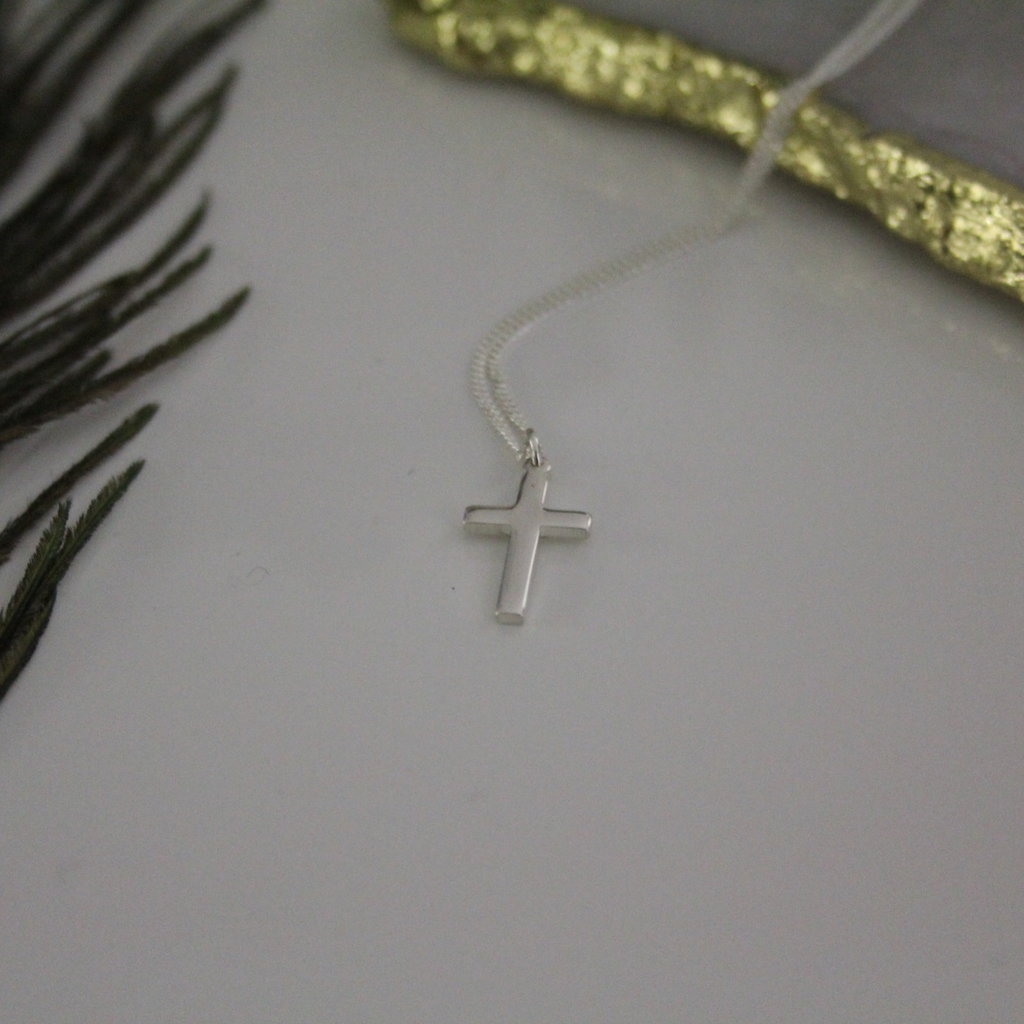 Silver Phoebe Cross Necklace