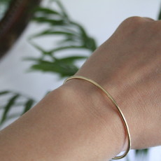 Gold infinity Cuff Bangle