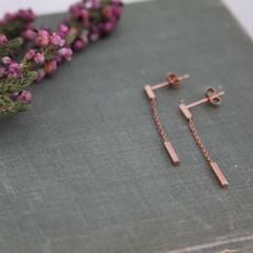 MADISON Rose Gold Bar Dangly Earrings