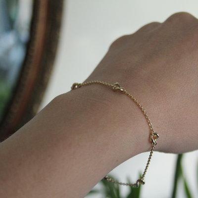Gold Chain Twist Bracelet