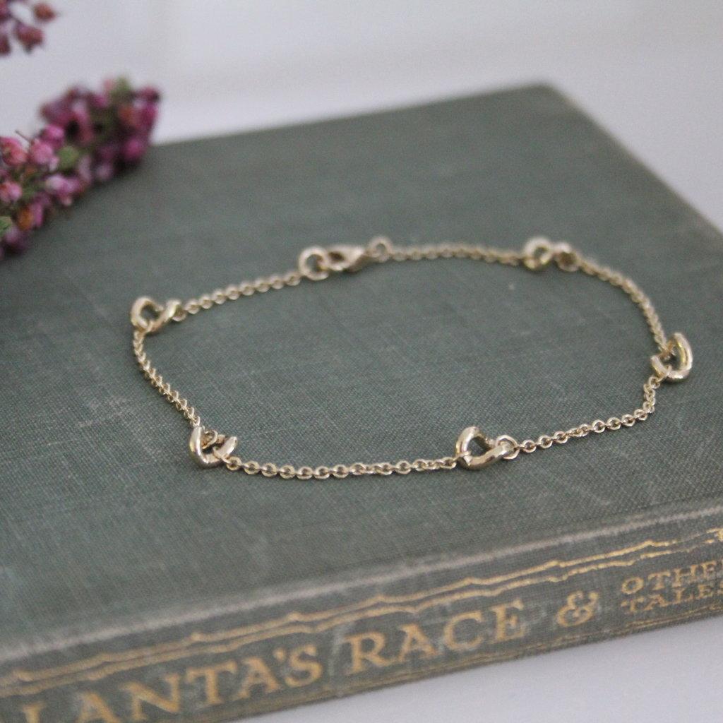Joulberry Gold Chain Twist Bracelet