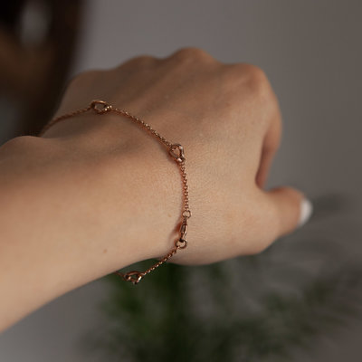 Rose Gold Chain Twist Bracelet