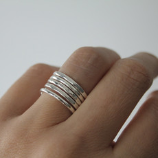 Joulberry Silver Sheen Stacking Ring