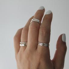 Silver Sheen Plain Stacking Ring