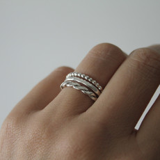 DAISY Silver Bobble Stacking Ring