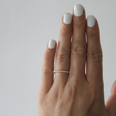 Silver Bobble Stacking Ring