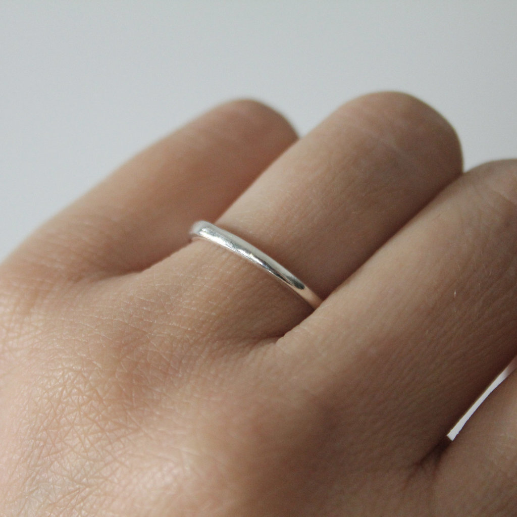 Joulberry Silver Waves Stacking Ring