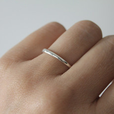 DAISY Silver Waves Stacking Ring