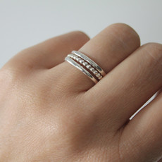 Silver Waves Stacking Ring