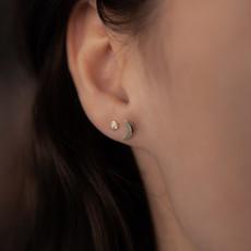 Joulberry Golden Moon Crescent Earrings