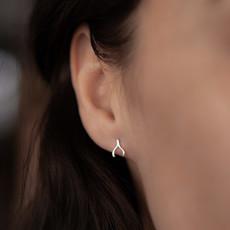 Joulberry Silver Wishbone Earrings