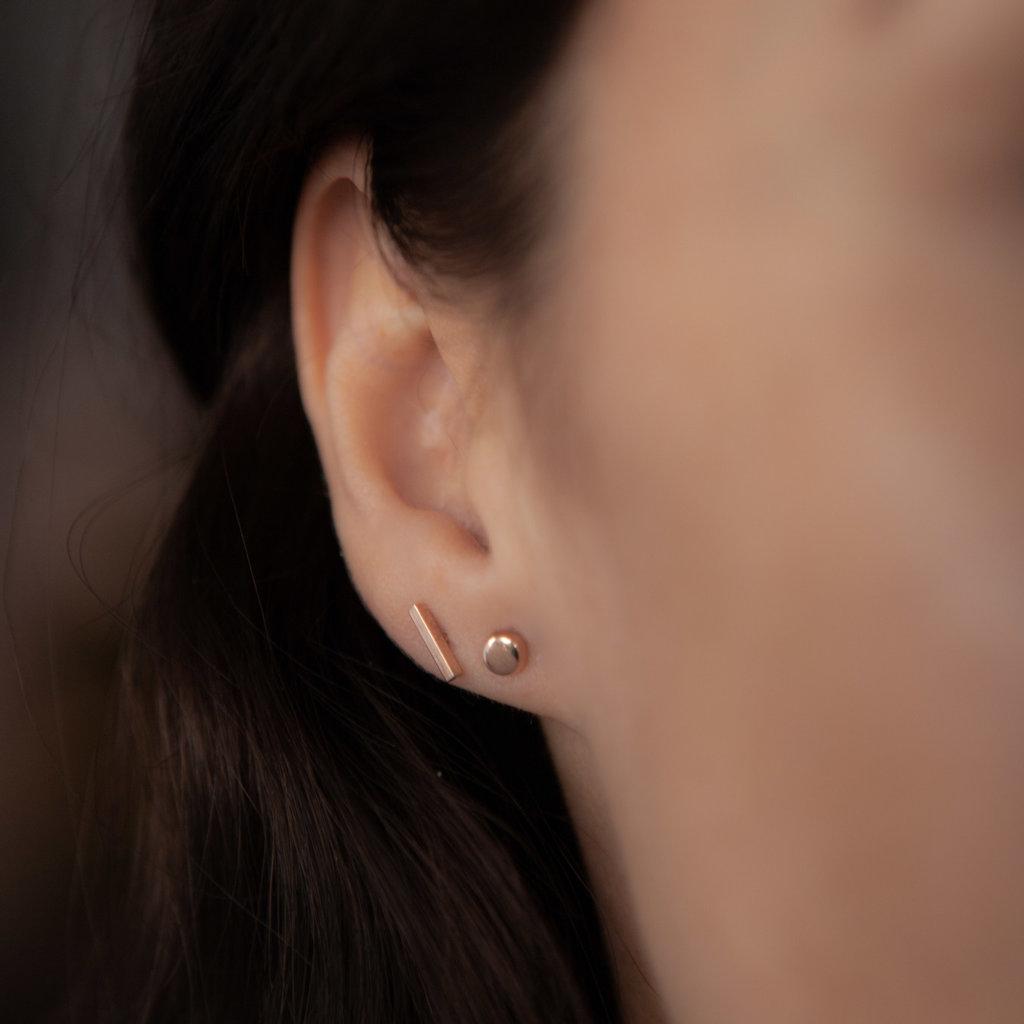 Rose Gold Slender Bar Earrings