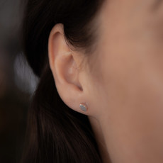 MADISON Silver Petal Earrings