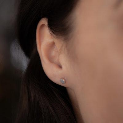 Joulberry Silver Petal Earrings