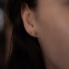 Rose Gold Bolt Earrings