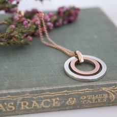 Rose Gold and Silver In2you Necklace