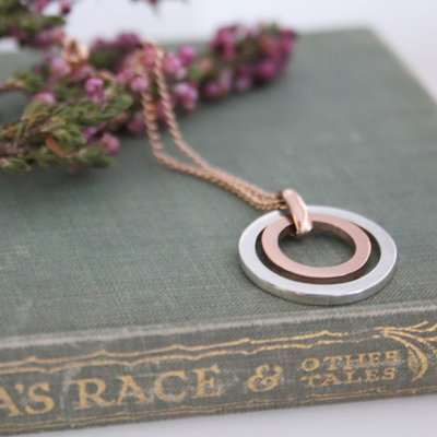Joulberry Rose Gold and Silver In2you Necklace
