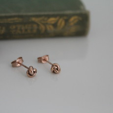 Joulberry Rose Gold Love Knot Earrings