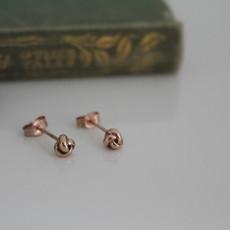 MADISON Rose Gold Love Knot Earrings