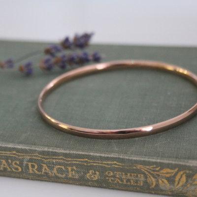 CASSIDY Rose Gold Solar Bangle