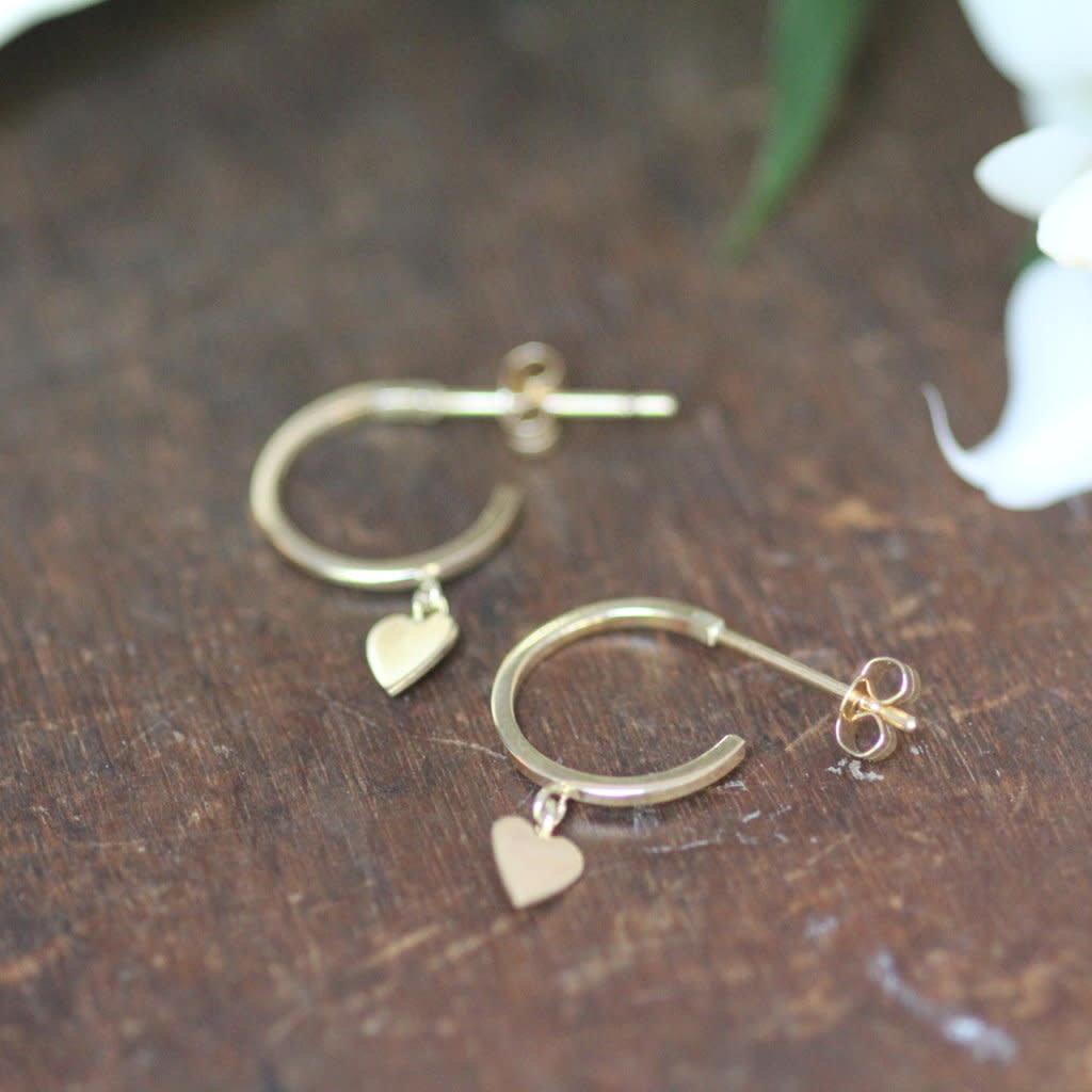 Joulberry Gold Evelyn Heart Earrings
