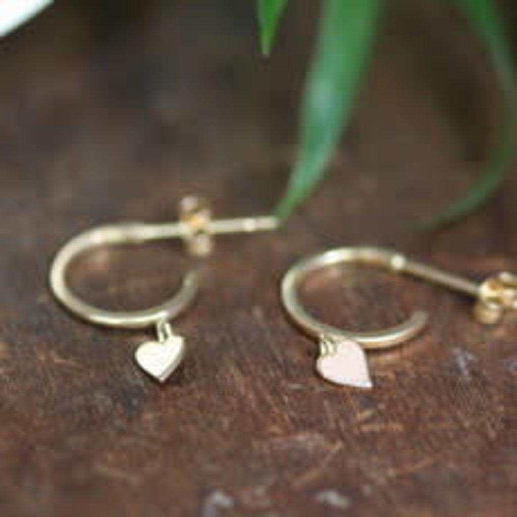 Gold Evelyn Heart Earrings