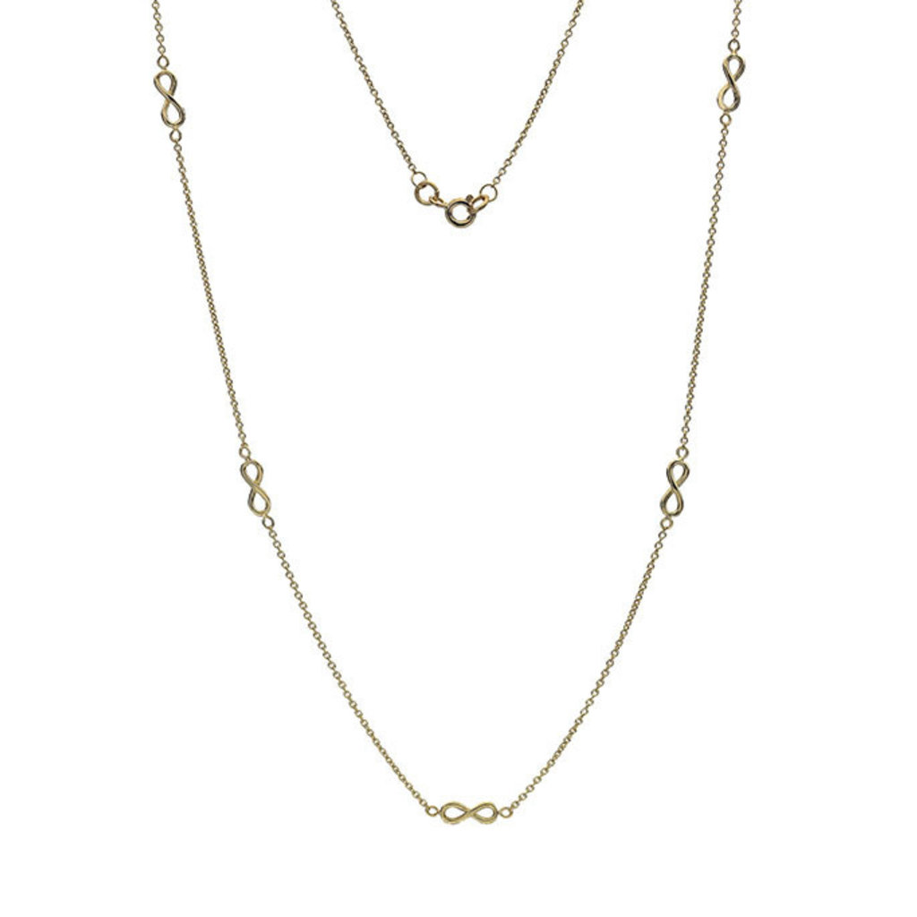 * Gold Infinity Chain Necklace