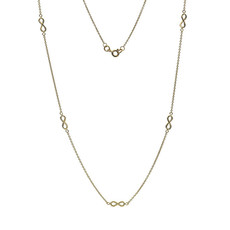 Joulberry Gold Infinity Chain Necklace