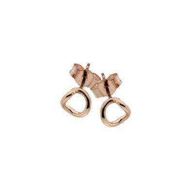 Rose Gold Twist Silhouette Earrings