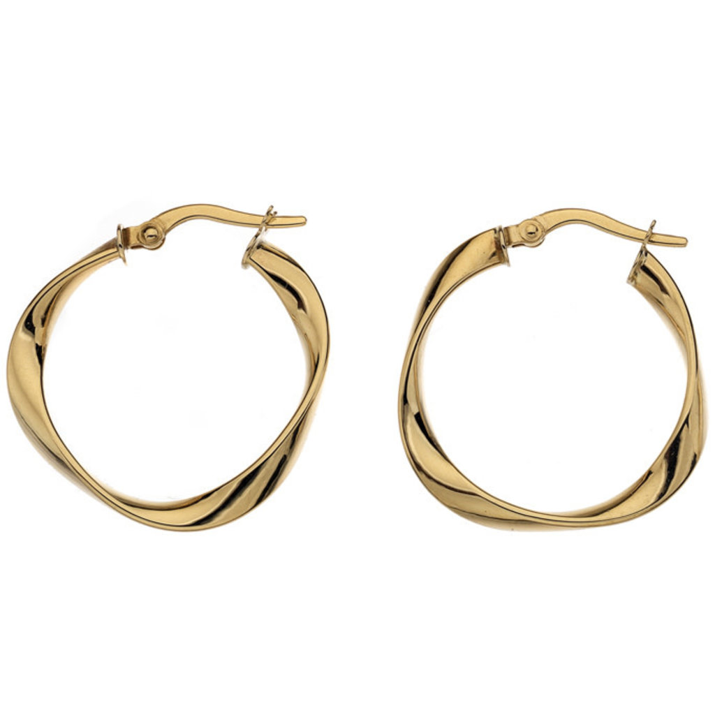 Joulberry Gold Flo Medium Hoop Earrings