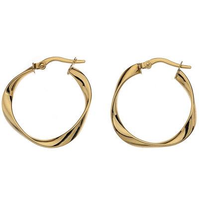 Gold Flo Medium Hoop Earrings