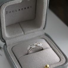 BLOSSOM Platinum Marquise Diamond Leaf Ring
