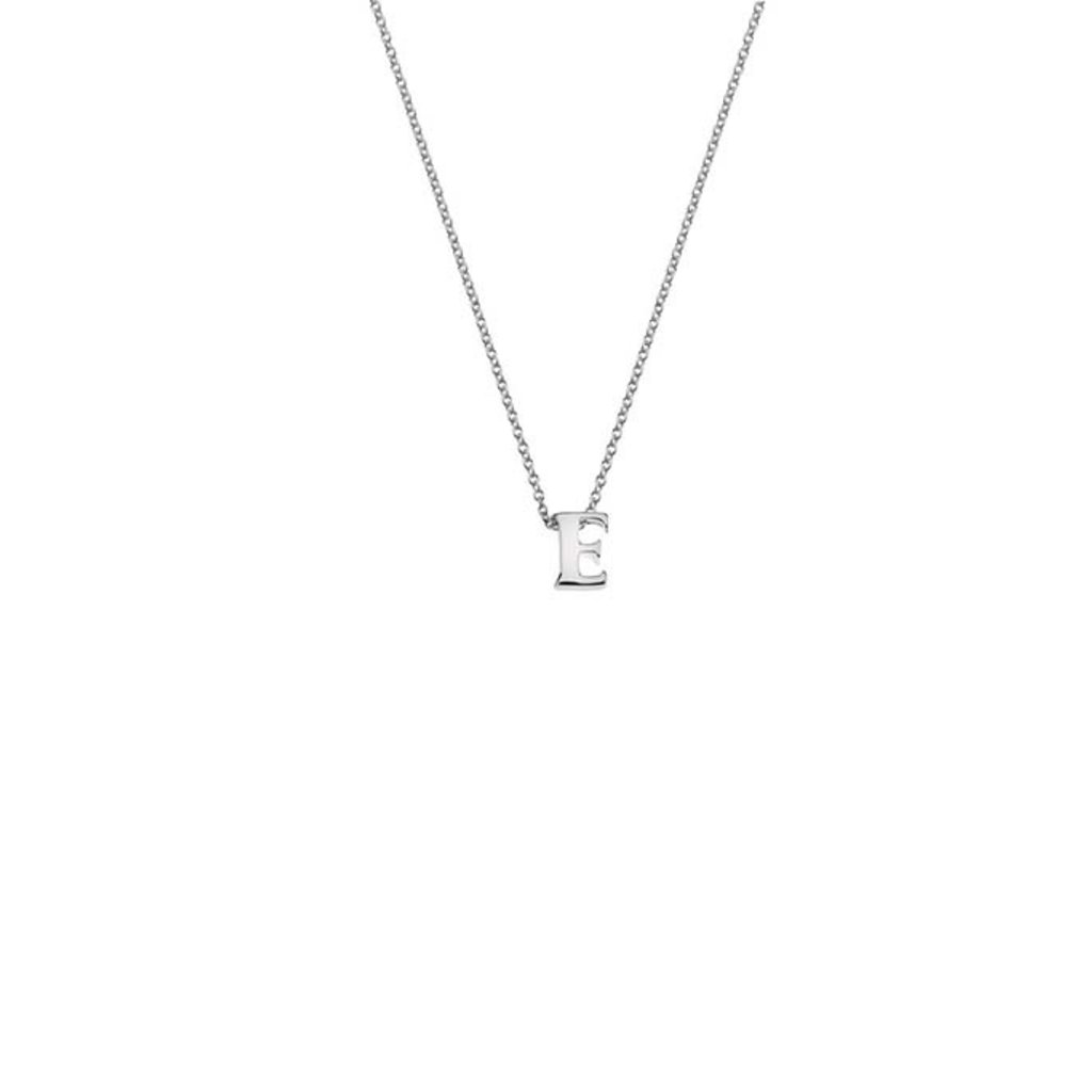 Silver Threaded Initials Necklace