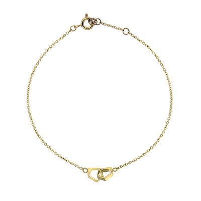 Gold Geo Infinity Bracelet