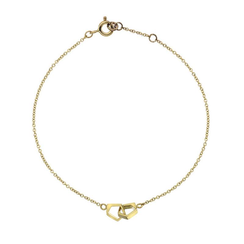 NOVA Gold Geo Infinity Bracelet