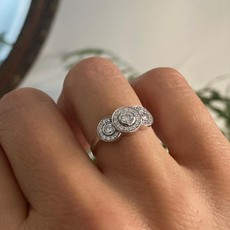 GATSBY Gold Flora Diamond Ring
