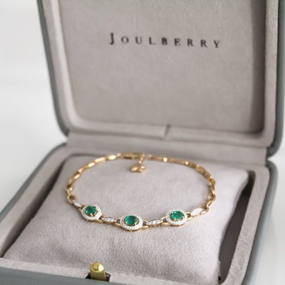 Bardot Emerald and Diamond Bracelet