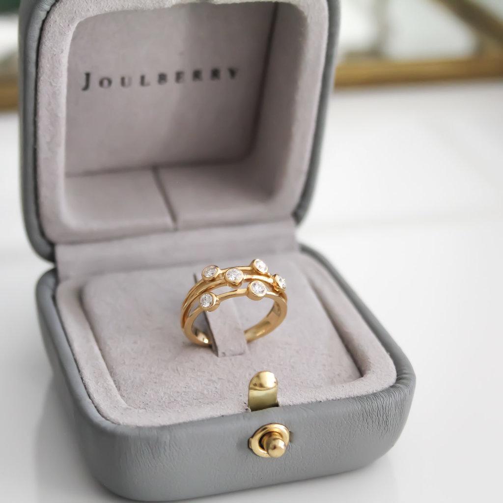 Fallon Gold Diamond Bobble Ring
