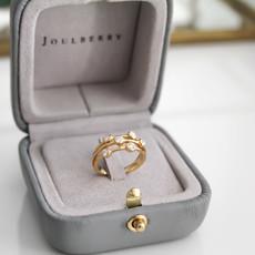 Joulberry Fallon Gold Diamond Bobble Ring