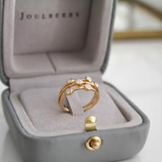 BARDOT Gold Diamond Moet Ring 0.36ct