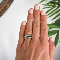 Vogue Marina Sapphire and Diamond Ring