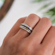 TATE Gold Marina Sapphire and Diamond Ring