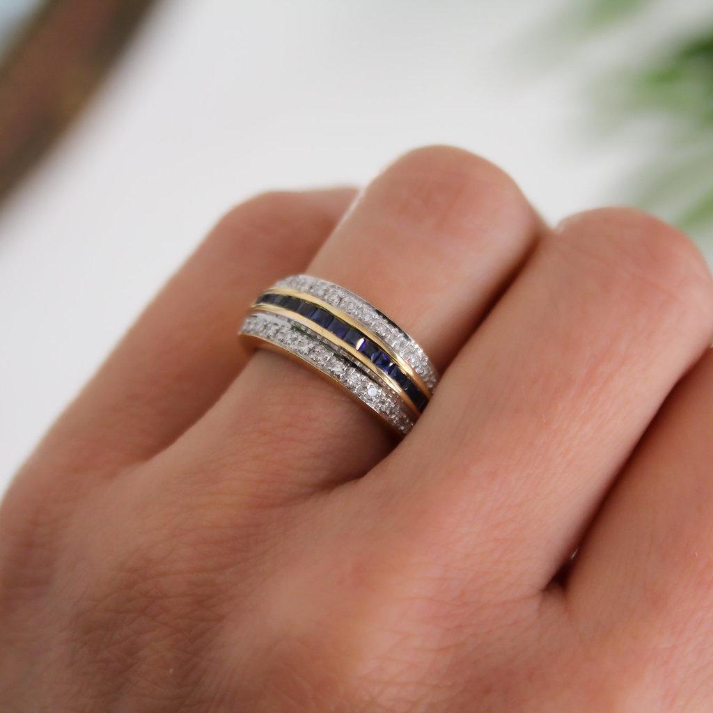 Joulberry Vogue Marina Sapphire and Diamond Ring