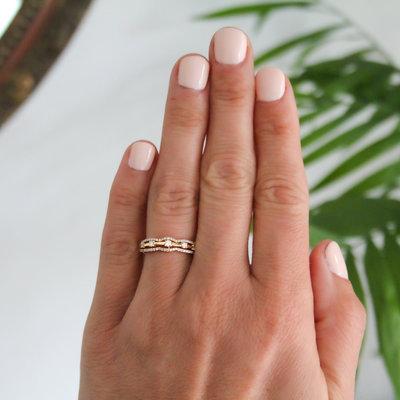 MONROE Gold Charlotte Diamond Ring