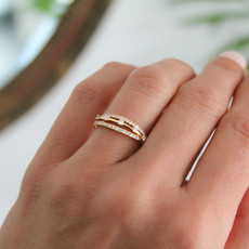 MONROE Gold Diamond Kaitlin Ring