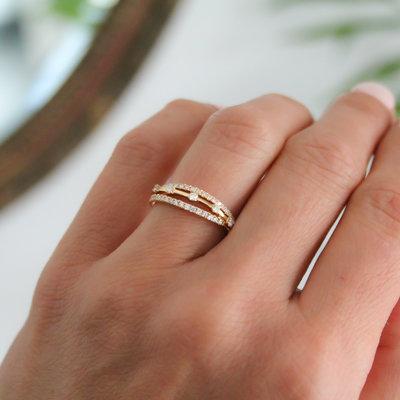 Joulberry Noorda Gold Diamond Kaitlin Ring